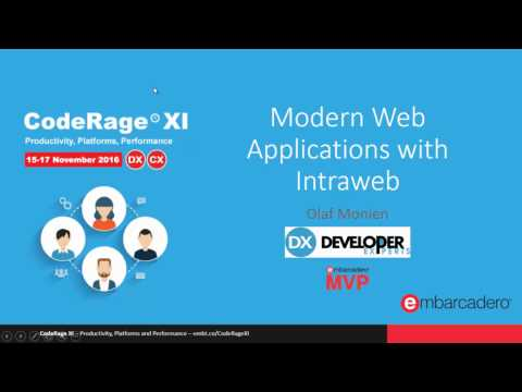 Modern Web Applications with Intraweb and Bootstrap with Olaf Monien - CodeRageXI