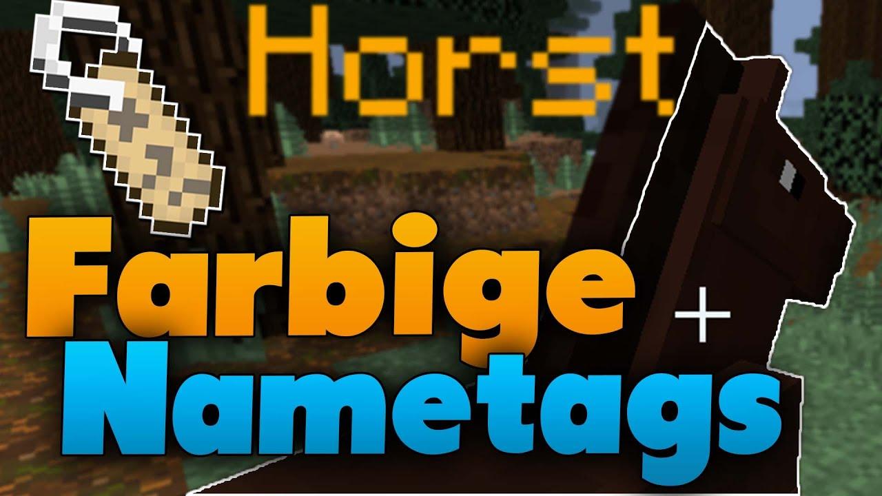 Minecraft Farbige Nametags Erstellen Vanilla Tutorial YouTube - Minecraft farbige namen andern