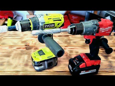 Ryobi VS Milwaukee Brushless Hammer drills