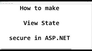 How to make ViewState secure in asp.net?