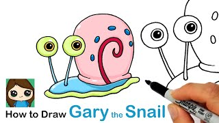 How to Draw Gary the Snail | SpongeBob SquarePants