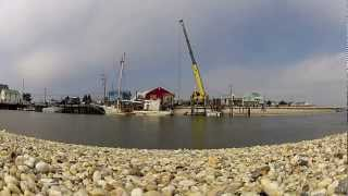 Timelapse Video of a Crane Pulling a Sunk Crab Boat Up To The Surface