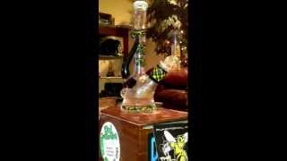 glass Munky worked mini tube with encalmo horn with opal 3 millies fillacello