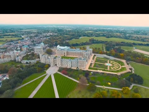 Windsor Castle Drone • The Largest Inhabited Castle in the World | European Waterways