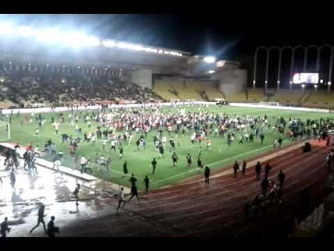AS MONACO Champion ! Envahissement Stade Louis II