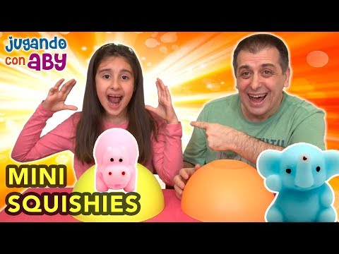 SQUISHIES vs CHOCOLATE Challenge.  Qué bonitos son estos mini Squishies!