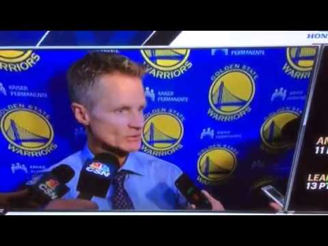 Steve Kerr On Ron Adams Game Saving Decision In Portland