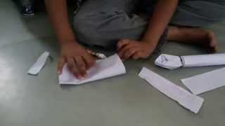 How to make pichkari with paper