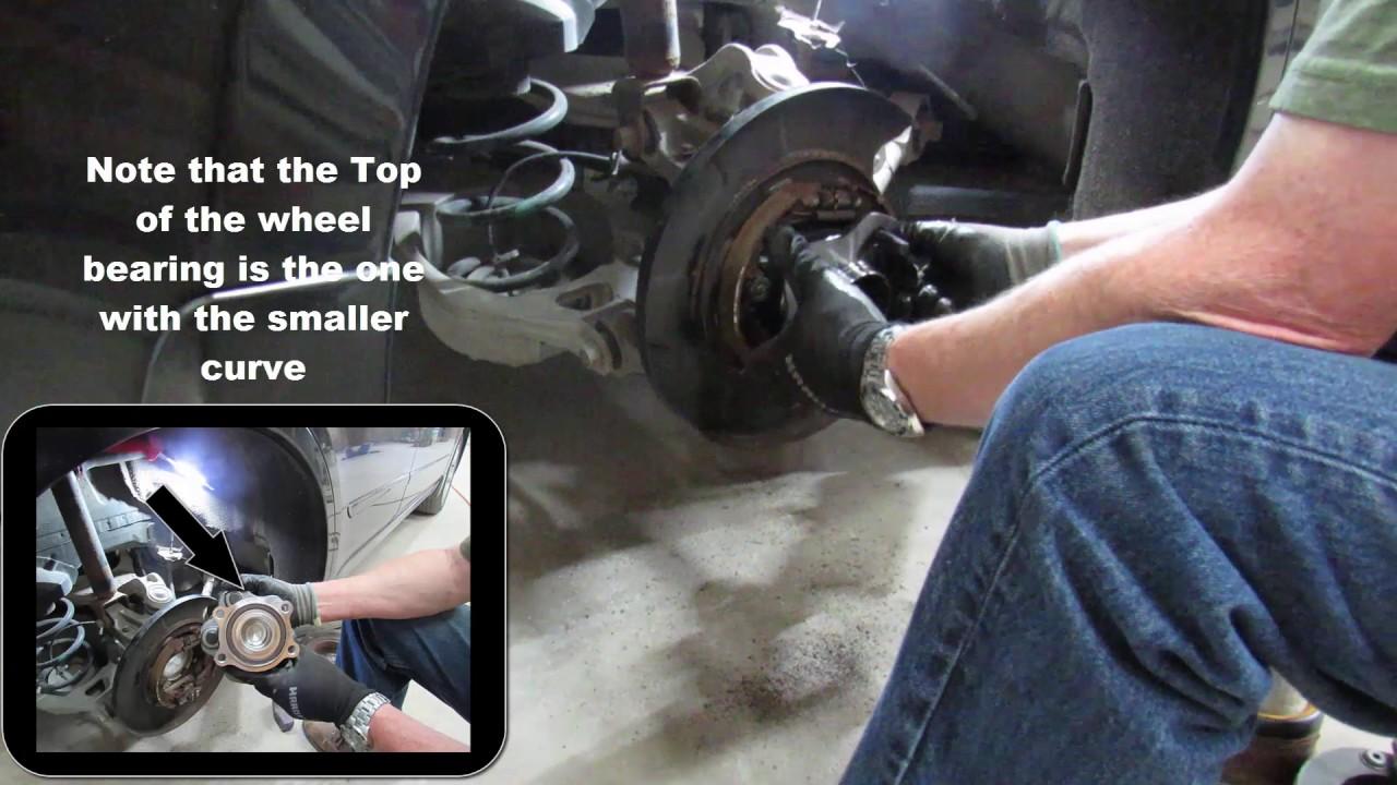 2007 Nissan Altima Rear Wheel Bearing Replacement Tutorial Youtube