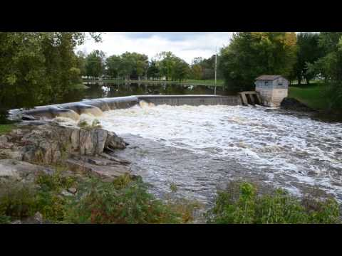 Dam on the Yellow River at Cadott, Wisconsin, September 22, 2016