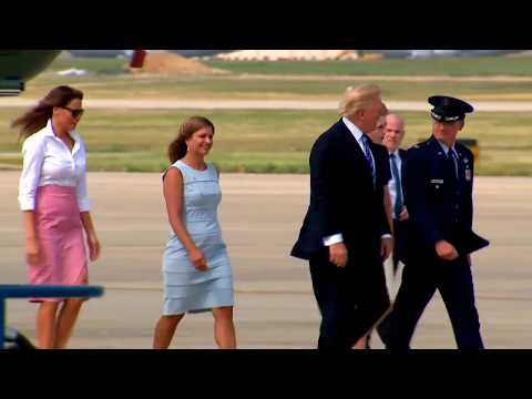 FIRST FAMILY: President Trump and Family Head To Bedminster, New Jersey For Holiday Weekend (FNN)