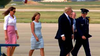FIRST FAMILY: President Trump and Family Head To Bedminster, New Jersey For Holiday Weekend