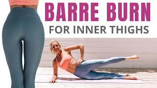 BARRE workout for INNER THIGHS (no equipment)