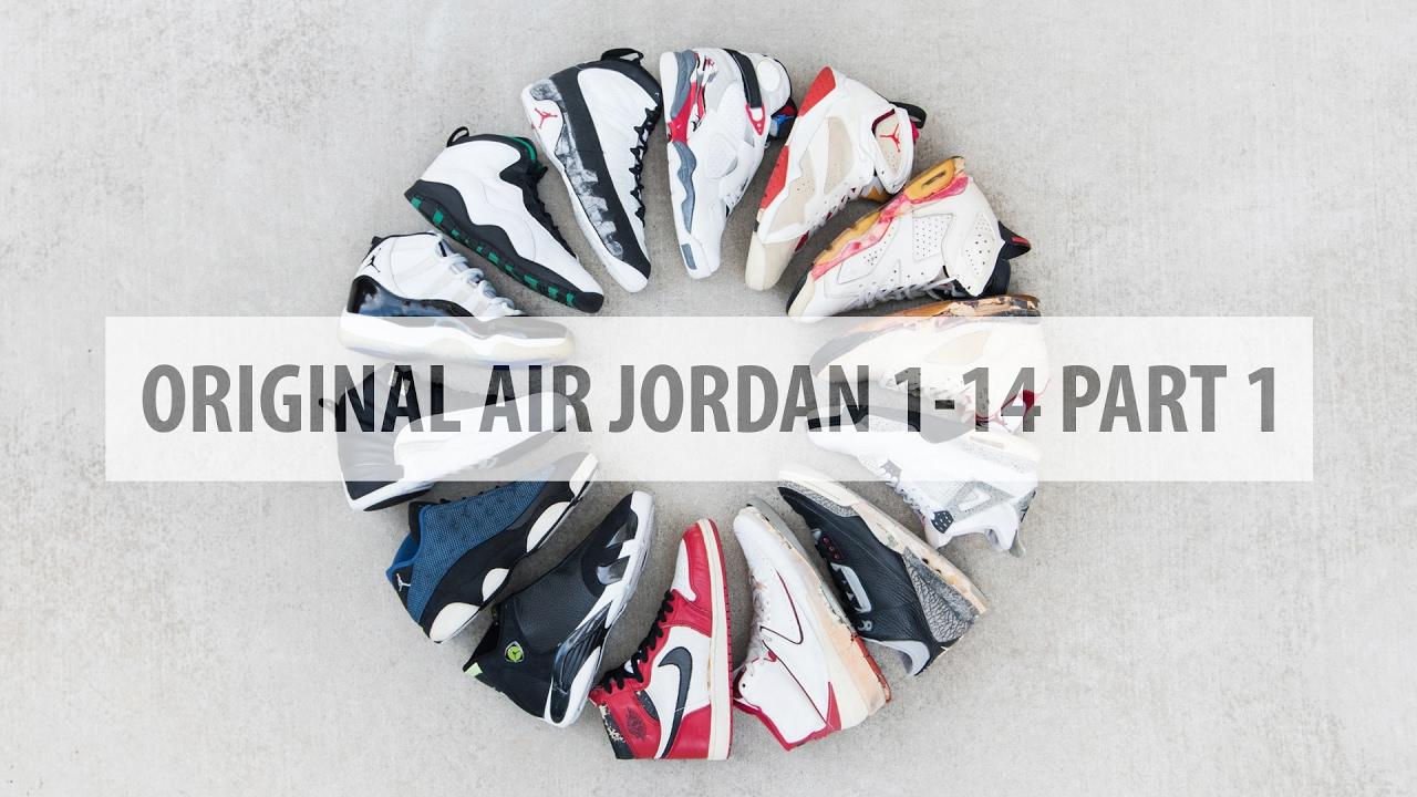 37605418916d9a Original Air Jordan 1-14 Part 1
