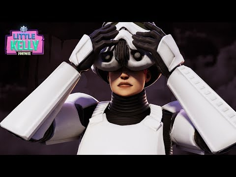 LITTLE KELLY STEALS STORMTROOPER'S SKIN | Fortnite Short Film