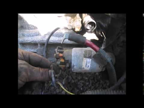 hqdefault saturn vue 2 2 ecotec starter removal youtube 2005 chevy cobalt starter wiring diagram at bayanpartner.co