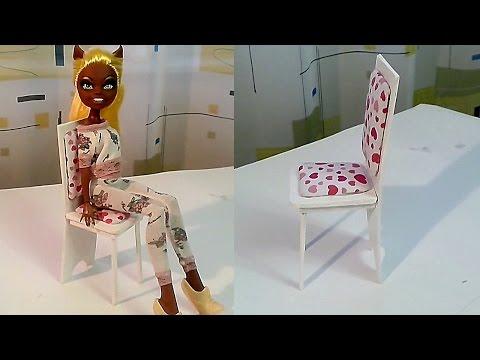 Как сделать стул для куклы How To Make a Doll Chair смотреть в хорошем качестве