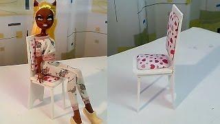 Как сделать стул для куклы How To Make a Doll Chair