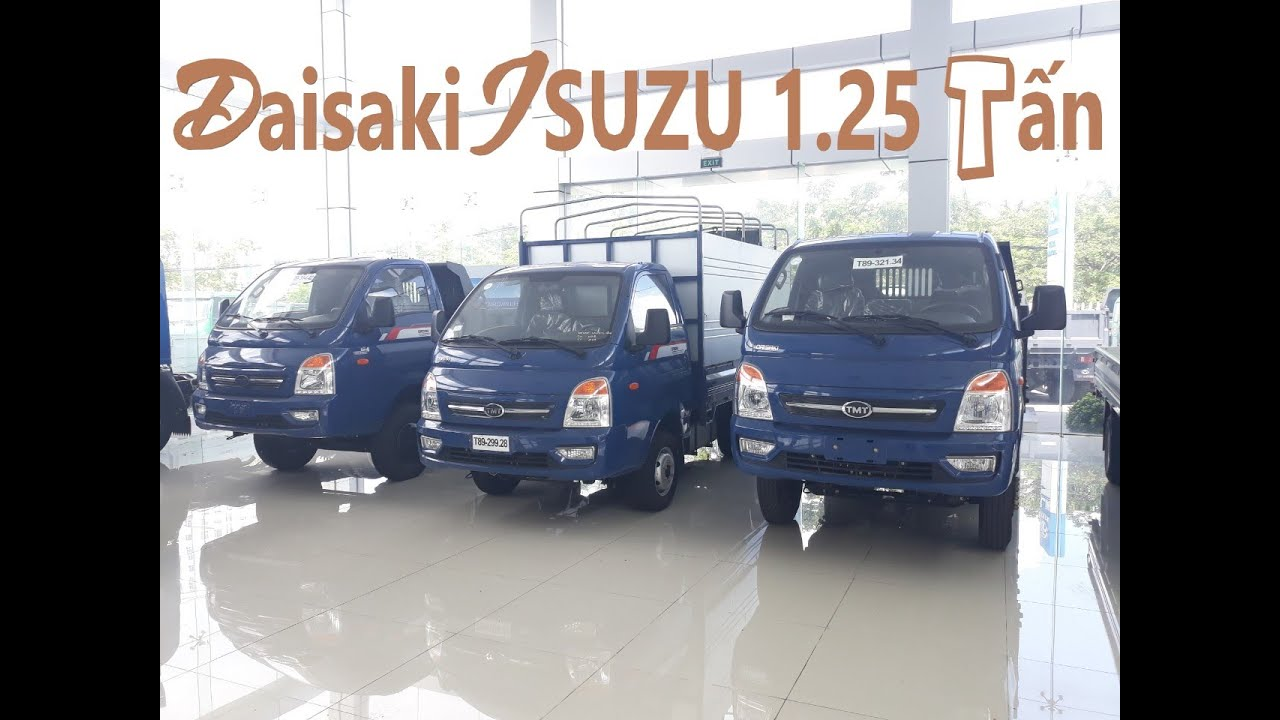 Xe tải Daisaki Isuzu 1 tấn 25 thùng 3m3 | Giá xe tải Daisaki isuzu 1t25 đời 2020