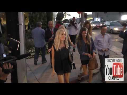 Kristin Cavallari talks about The Hills Reunion Show as she leaves Craig's Restaurant