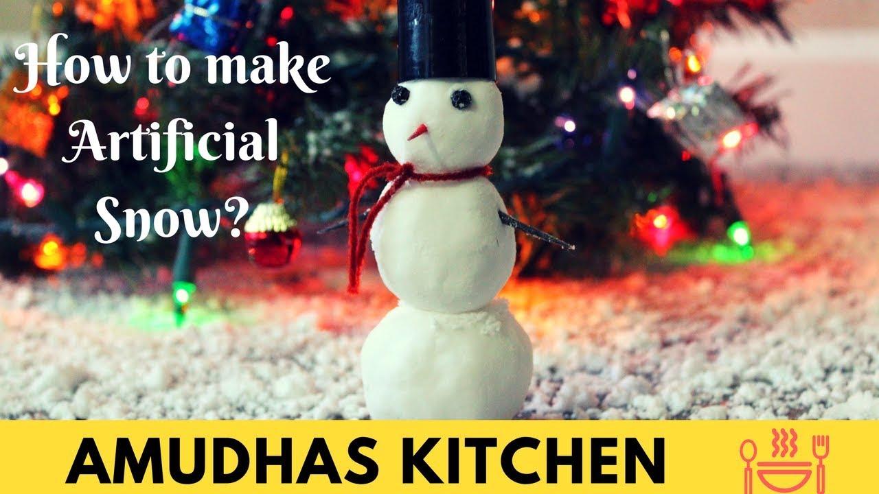 How To Make Artificial Snow Diy Snow Man Christmas Decorations