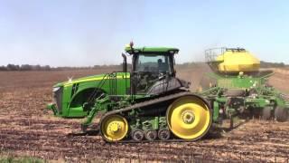 360 hp John Deere 8360RT Seeding Canola 40ft Per Pass