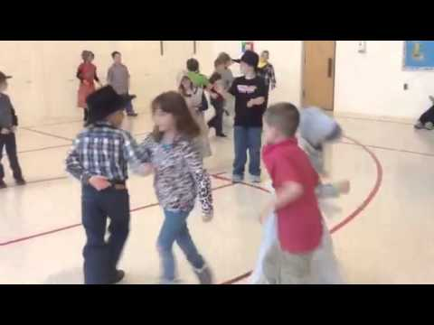 "2nd graders square dance to ""Red River Valley """