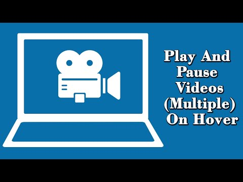 Play Videos(multiple) On Hover And Pause On Mouse Out.
