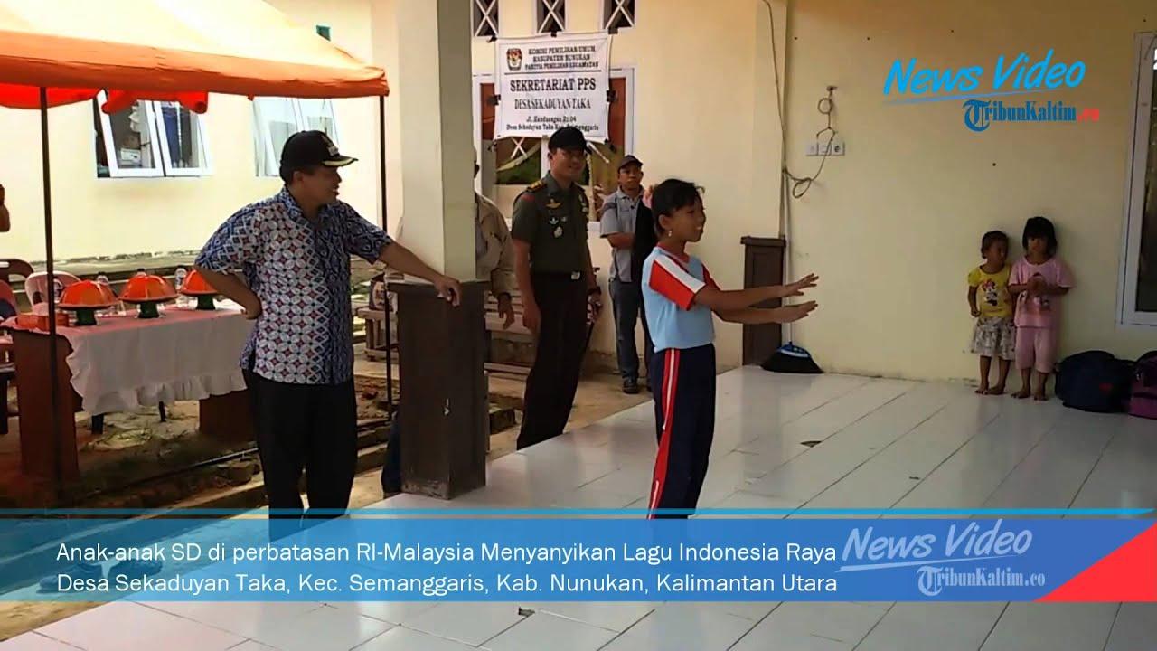 Video Anak Perbatasan Menyanyikan Indonesia Raya
