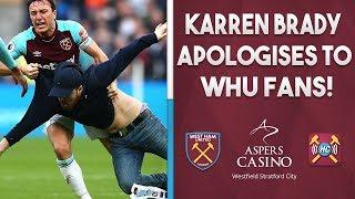 Karren Brady apologises to West Ham fans