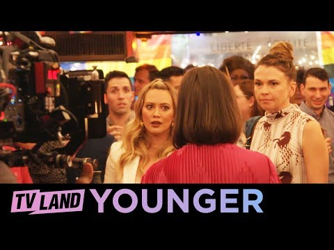 BTS 🎬 of the Younger Cast Singing '9 to 5' by Dolly Parton | TV Land