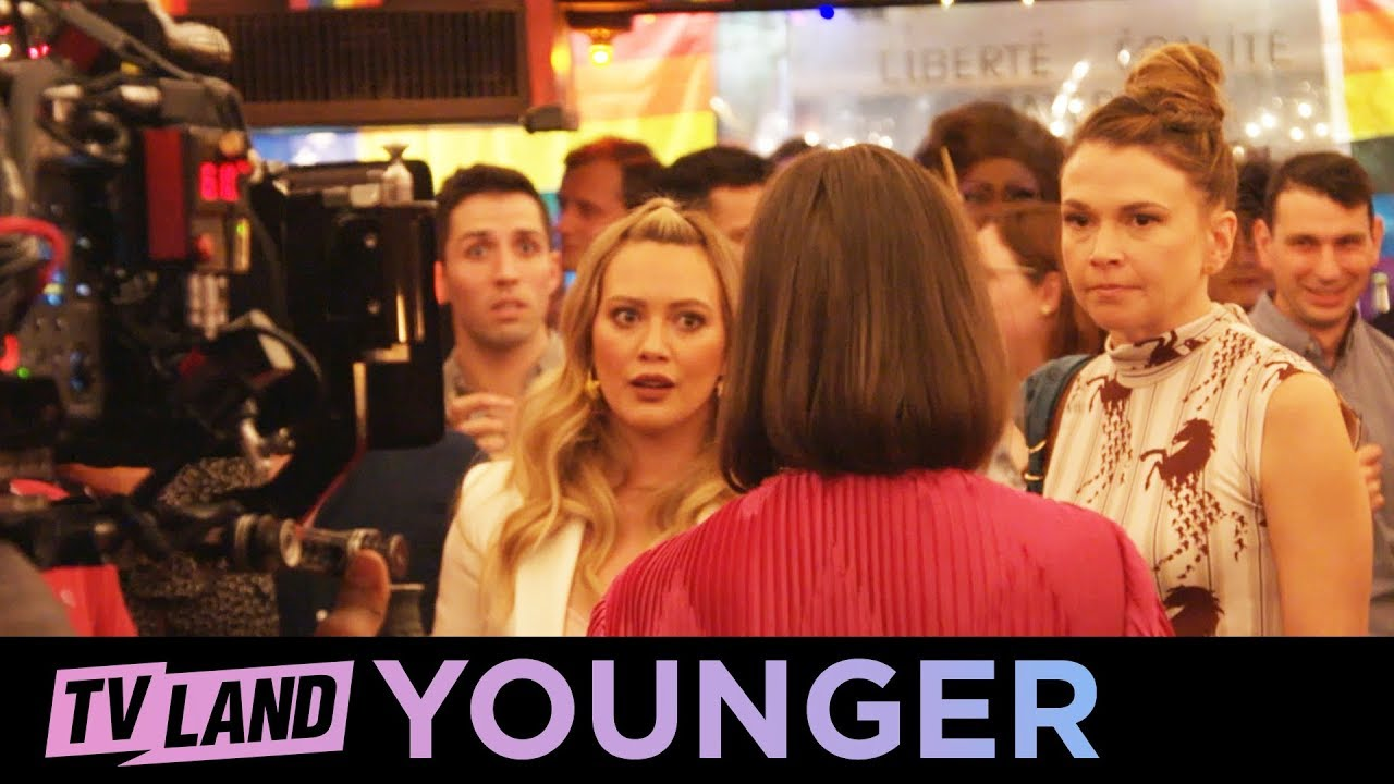 Download BTS 🎬 of the Younger Cast Singing '9 to 5' by Dolly Parton | TV Land
