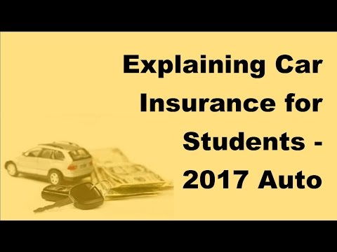 Explaining Car Insurance for Students - 2017 Auto Insurance Basics
