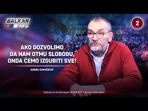 INTERVJU: Siniša Kovačević - Ako dozvolimo da nam otmu slobodu, onda ćemo izgubiti sve! (14.12.2018)