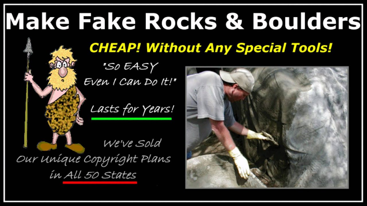 How To Make Fake, Artificial, Landscape, Rocks And Boulders - How To Make Fake, Artificial, Landscape, Rocks And Boulders - YouTube