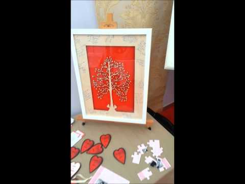 Intricate Wedding Guestbook and Jigsaw Puzzle Invitations
