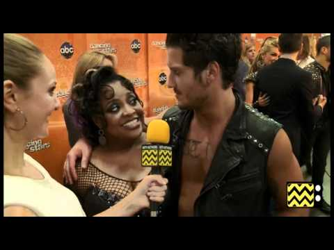 AfterBuzz TV Interviews Sherri Shepherd & Val Chmerkovskiy @ DWTS April 9th, 2012