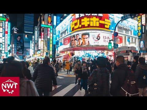 Shinjuku-sanchōme, Tokyo by night - Long Take【東京・新宿三丁目】 4K