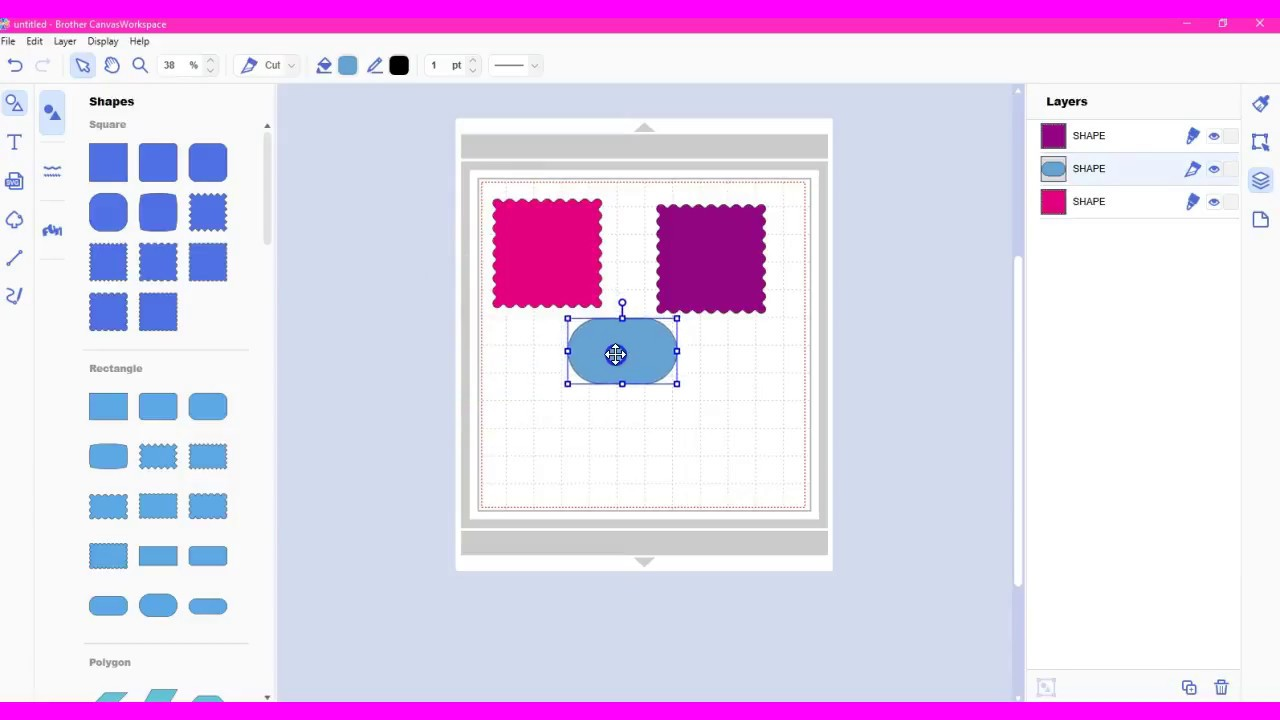 Setting Cut Draw in Canvas Workspace OFFLINE and using COLOR Fill ScanNCut  Jen Blausey