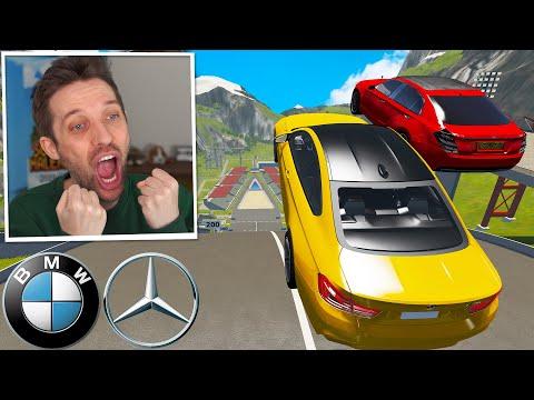 MERCEDES (320kmh) vs. BMW auf der XXL SCHANZE! - BeamNG