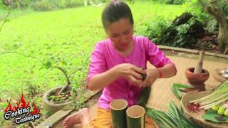 Cooking Technique: Cooking Cockles In Bamboo Prepared By Sister