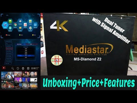Mediastar Diamond Z2 Dual Tuner 4K Digital Satellite Receiver   Unboxing+Price+Features in Urdu/Hindi