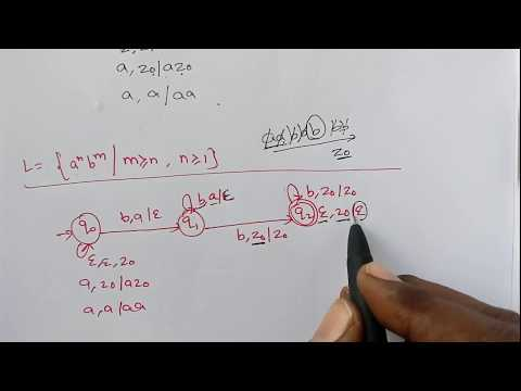 31-Push Down automata Example L={a^nb^m where n and m are greater then or equal to 1}