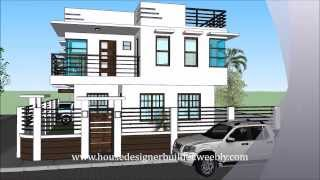 Modern 2 Storey House with Roofdeck