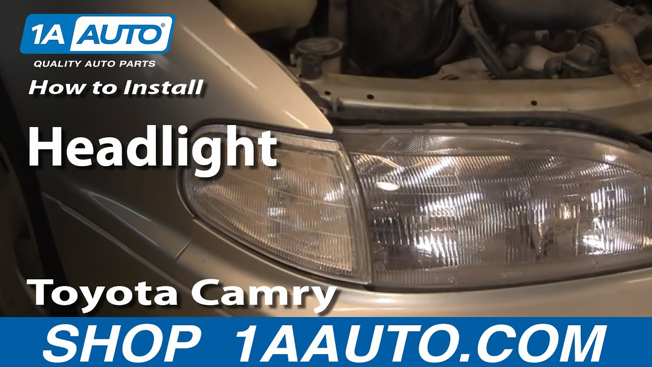How to Replace Headlight 92-94 Toyota Camry  Camry Engine Parts Diagram on