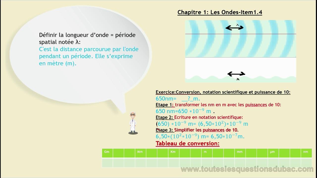 Longueur D Onde Conversion Notation Scientifique Youtube