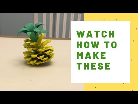 How to Make a Pineapple Pinecone Craft Video / DIY Crafts by EconoCrafts