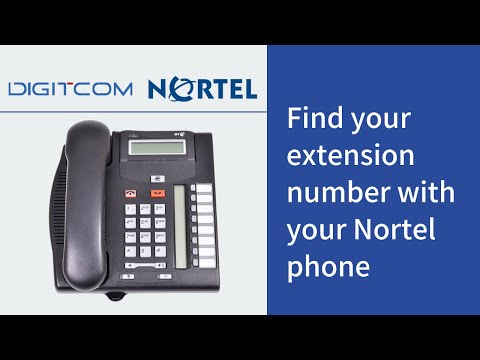 Find Your Extension Number With Your Nortel Phone