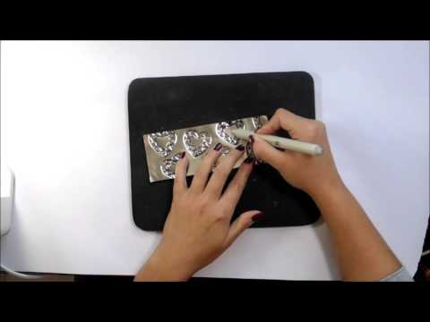 Hand Embossing A Stamped Image Onto Metal