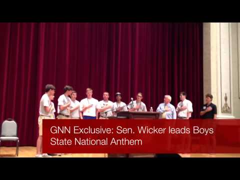 Boys State National Anthem With Senator Roger Wicker